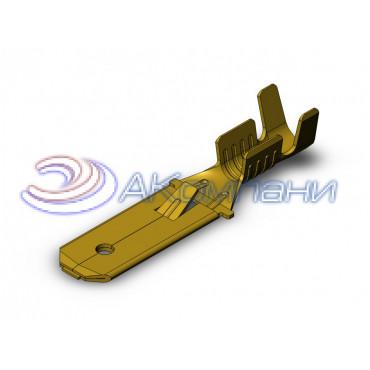 Нож не изолированный 6,3мм с замком, сечение от 1-2,5мм2 - SF1EU1 (6.3)