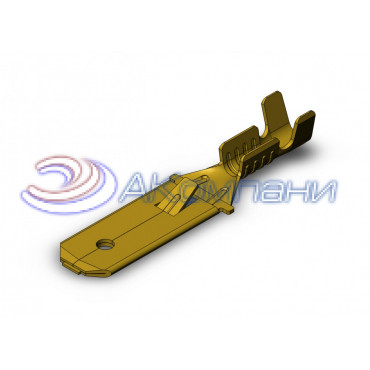 Нож не изолированный 6,3мм с замком, сечение от 0,5-1мм2 - SF1EU1K (6.3)