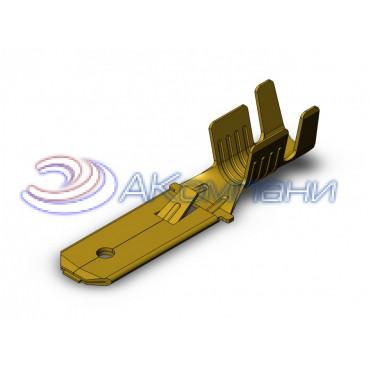 Нож не изолированный 6,3мм с замком, сечение от 2,5-6мм2 - SF1EU1B (6.3)