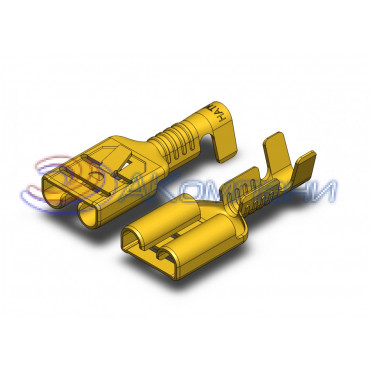 Гнездо латунь не луж. 2,8 мм с замком, сечение от 0,5-1мм2 (1000шт.)