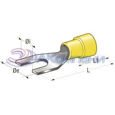 Клемма вилочная изолированная d=4,3 Cu-Sn PA66 сечение провода 2,5-6, шт