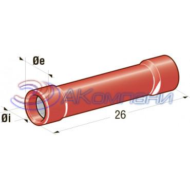 Клемма соединитель  d=1,7, сечение провода 0,25 мм - 1 мм2
