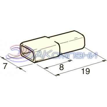 Изолятор на клемму мама 4.8 мм, белый