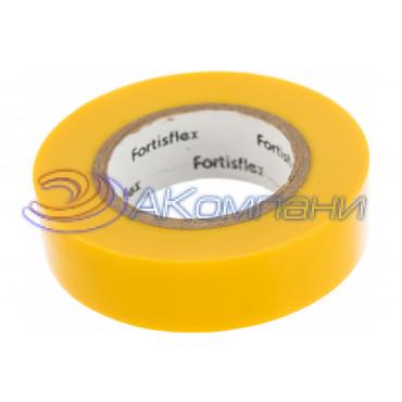 Изолента ПВХ Желтая, 15x0.15х10, 71224