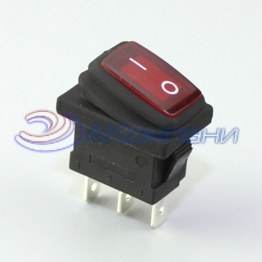 Клавишный переключатель KCD1-2-101NW, 3с 12V (778WL)