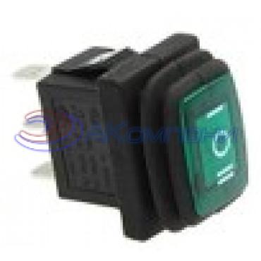 Клавишный переключатель KCD1-2-103NW, 3с нейтраль (778WL)