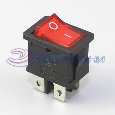 Клавишный переключатель KCD1-4-201N, 4с 12V (778)