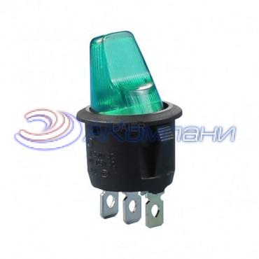 Клавишный переключатель KCD1-5-101NH, 3с (777T)