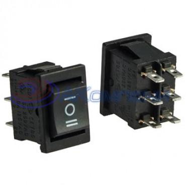 Клавишный переключатель KCD1-1-203, 6c нейтраль (768)