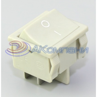 Клавишный переключатель KCD1-6-201, 4с, (727)