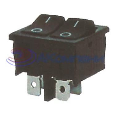 Клавишный переключатель KCD1-6-2101, 4с, 2 кл (727)