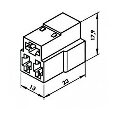 Колодка 3 конт. 6,3 мм гнездо (4573739005, 602603)