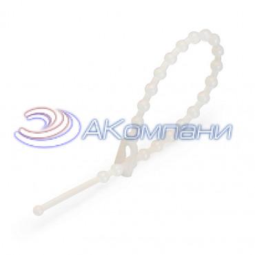 Кабельная стяжка нейлоновая разъемная с шариковым замком белая КСШ 2.5х120