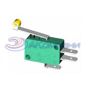Микропереключатель KW799 пластина+ролик, d=30мм (520)