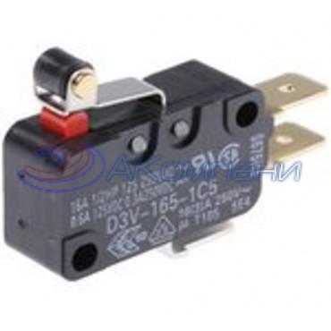 Микропереключатель SC799 пластина+ролик, d=10мм, 16А (520)