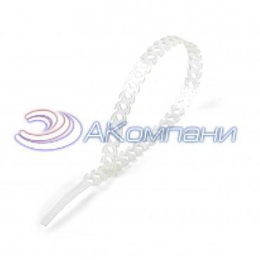 Кабельная стяжка нейлоновая разъемная фигурная T-flex 300 белая