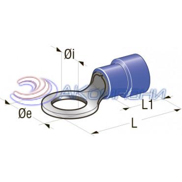 Клемма кольцевая изолированная 4,3мм,  сечение провода от  1 до 2.5 мм2