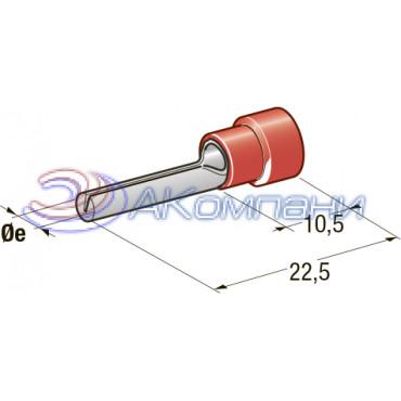 Клемма соединитель d=1,9, сечение провода 0,25 мм - 1 мм2