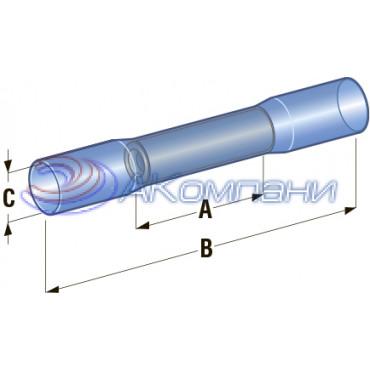Клемма соединитель в термоусадке d=4,9 сечение провода 1 мм- 2,5 мм2