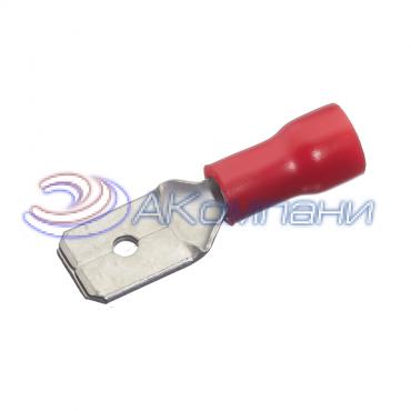 """Клемма изолированная """"""""папа"""""""", сечение провода - 0.25-1.5 мм², материал изоляции - винил (PVC)"""