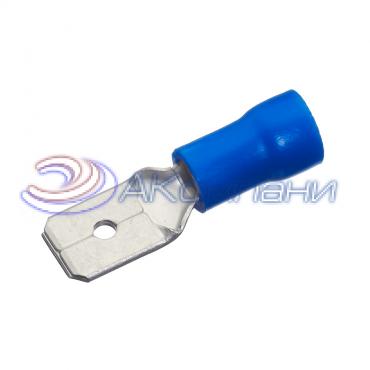 """Клемма изолированная """"""""папа"""""""", сечение провода - 0.5-1.5 мм², материал изоляции - винил (PVC)"""