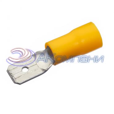 """Клемма изолированная """"""""папа"""""""", сечение провода - 4-6 мм², материал изоляции - винил (PVC)"""