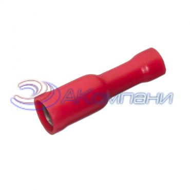 """Клемма изолированная цилиндрическая """"мама"""", сечение провода 0.25-1.5  мм²,  материал изоляц. - винил (PVC)"""