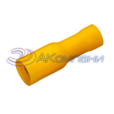 """Клемма изолированная цилиндрическая """"мама"""", сечение провода 4-6  мм²,  материал изоляц. - винил (PVC)"""