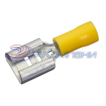 Наконечник с изолир. фланцем(материал -винил,PVC), сечение провода 0.25-1.5 мм²