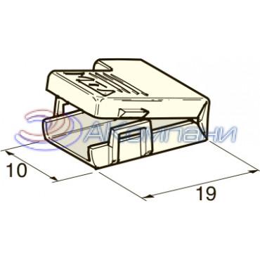 Изолятор c защелкой на клемму мама 6.3 мм, белый