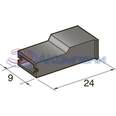 Изолятор на клемму мама 6.3 мм, черный