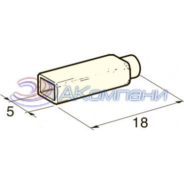 Изолятор на клемму мама 2.8 мм, белый