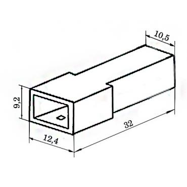 Колодка 1 конт. 6,3 мм штырь (502601, 45 7373 9002)