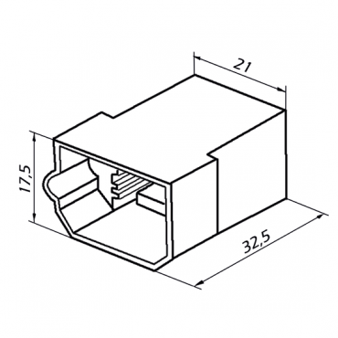 Колодка 4 конт. 6,3 мм штырь (502604, 45 7373 9008)