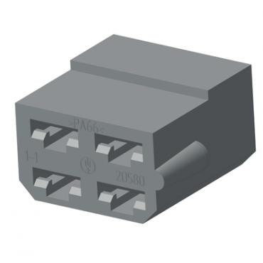 Колодка 4 конт. 6,3 мм гнездо (4573739007, 602604)