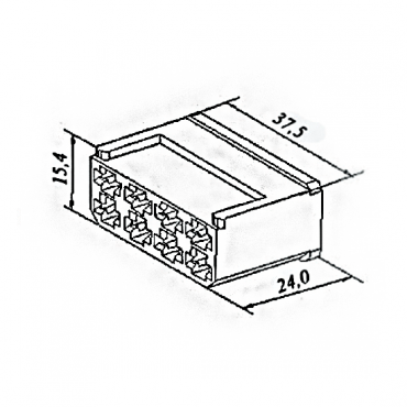 Колодка 8 конт. 6,3 мм гнездо (4573739012, 602608)
