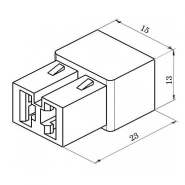 Колодка 2 конт. 6,3 мм гнездо (602602, 45 7373 9003)
