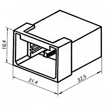 Колодка 6 конт. 6,3 мм штырь (45 7373 9011, 502606)