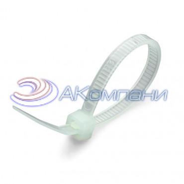 Кабельная стяжка нейлоновая термостойкая белая КСТ 3х100