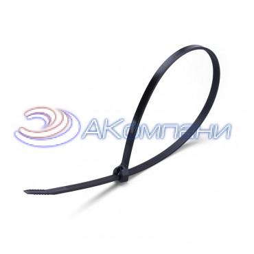 Кабельная стяжка нейлоновая с зубом из нержавеющей стали черная КСЗ 10х600