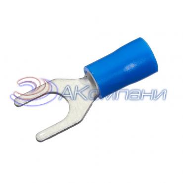 Клемма вилочная изолированная, сечение провода 1.5-2.5 мм², материал изоляции - винил (PVC)