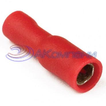 Наконечник цилиндрический с изолир.фланцем (розетка) 0,25-1,5 кв.мм (РШИ-М)