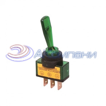 Тумблер ASW-13D, 3c 15A 12V (C-408)