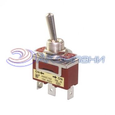 Тумблер KN3C-223-A, 5c 15A нейтраль (C-609)